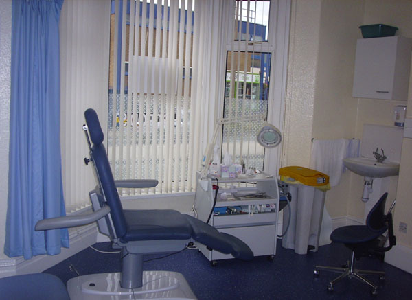 Podiatry practice room